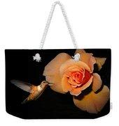 Hummingbird And Orange Rose Weekender Tote Bag