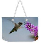 Hummingbird At Butterfly Bush Weekender Tote Bag