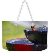 Hummingbird Bath Weekender Tote Bag