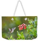 Hummingbird Dives In  Weekender Tote Bag