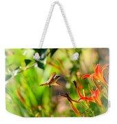Hummingbird In The Daylilies Weekender Tote Bag