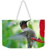 Hummingbird Male Ruby Throated  Weekender Tote Bag