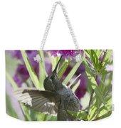 Hummingbird On A Desert Willow Weekender Tote Bag