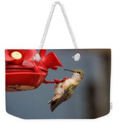 Hummingbird On Feeder Weekender Tote Bag