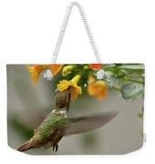 Hummingbird Sips Nectar Weekender Tote Bag