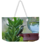 Hummingbird Still Life Weekender Tote Bag