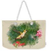 Hummingbird - Watercolor Art Weekender Tote Bag
