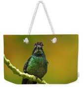 Hummingbird With A Lilac Crown Weekender Tote Bag
