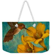 Hummingbird With Yellow Jasmine Weekender Tote Bag