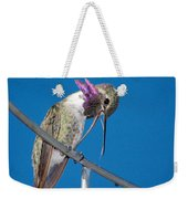Hummingbird Yawn With Tongue Weekender Tote Bag