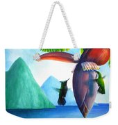 Hummingbirds And Bananas Weekender Tote Bag