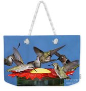Hummingbirds At Feeder Weekender Tote Bag