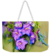 Hummingbirds Butterflies And Flowers Weekender Tote Bag
