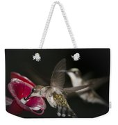 Hummingbirds In Flight Weekender Tote Bag