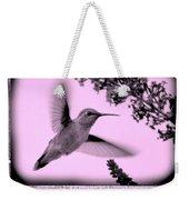 Hummingbirds In Old Frames Collage Weekender Tote Bag