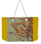 Hummingbirds On Yellow Tree Weekender Tote Bag