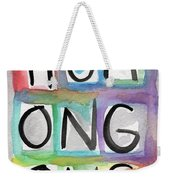Humongous Word Painting Weekender Tote Bag