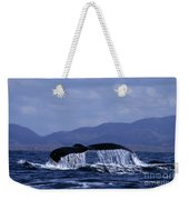 Hump Backed Whale Tail With Cascading Water Weekender Tote Bag