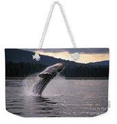 Humpback Whale Breaching Weekender Tote Bag