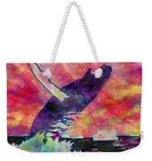 Humpback Whale Digital Color Weekender Tote Bag