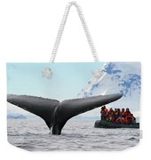 Humpback Whale Fluke  Weekender Tote Bag by Tony Beck