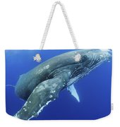 Humpback Whale Near Surface Weekender Tote Bag