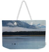 Humpback Whales And Alaskan Scenery Weekender Tote Bag