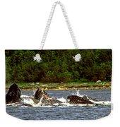 Humpback Whales Feeding Weekender Tote Bag