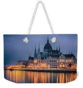 Hungarian Parliament Dawn Weekender Tote Bag
