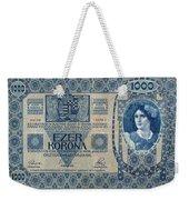 Hungary Banknote, 1902 Weekender Tote Bag