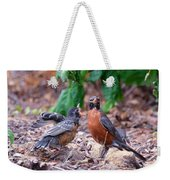 Hungry Baby Robin Weekender Tote Bag