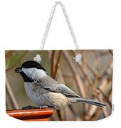 Hungry Chickadee  Weekender Tote Bag