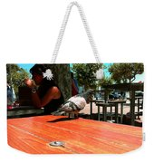 Hungry Pigeon At Mcdonalds Weekender Tote Bag