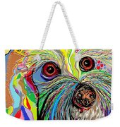 Hunter The Bichon . . . He's A Shoe Man Weekender Tote Bag