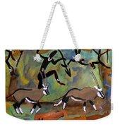 Hunters And Gemsbok Rock Art Weekender Tote Bag