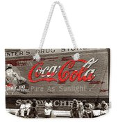 Hunter's Drug Store Coca-cola Mural Greensboro Georgia Marion Post Wolcott Fsa Spring 1939-2014  Weekender Tote Bag