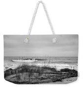 Hunting Island Beach In Black And White Weekender Tote Bag
