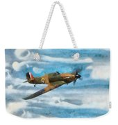Hurricane Fighter Watercolour Weekender Tote Bag