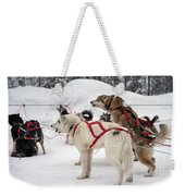 Husky Dogs Pull A Sledge  Weekender Tote Bag