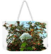 Hydrangea With Mountain Ash Weekender Tote Bag