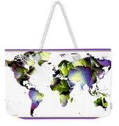 Hydrangea World Map Weekender Tote Bag