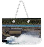 Hydro Power Station Dam Open Gate Spillway Water Weekender Tote Bag