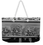 I Heart Ny In Black And White Weekender Tote Bag