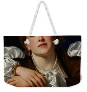 I Know A Maiden Fair To See Weekender Tote Bag by Charles Edward Perugini