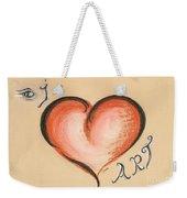 I Love Art Weekender Tote Bag