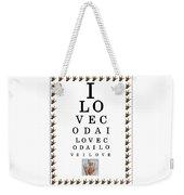 I Love Coda Eye Chart Weekender Tote Bag