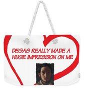 I Love Degas Weekender Tote Bag