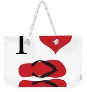 I Love Flip Flops Weekender Tote Bag