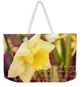 I Love To Tell The Story Weekender Tote Bag by Michelle Greene Wheeler