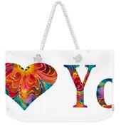 I Love You 17 - Heart Hearts Romantic Art Weekender Tote Bag